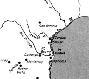 Map Showing Strip Of Land Between Nueces And Rio Grande Rivers